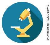 microscope icon   Shutterstock .eps vector #623018942