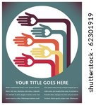 hand design with text space. | Shutterstock .eps vector #62301919