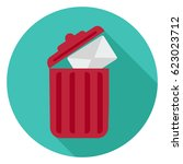 trash icon | Shutterstock .eps vector #623023712