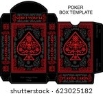 box template poker playing card | Shutterstock .eps vector #623025182