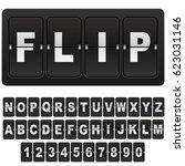 flip countdown digital calendar ... | Shutterstock .eps vector #623031146