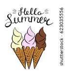 vector colorful ice cream....   Shutterstock .eps vector #623035556