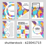 abstract vector layout... | Shutterstock .eps vector #623041715
