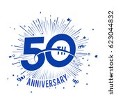 50th anniversary fireworks and... | Shutterstock .eps vector #623044832