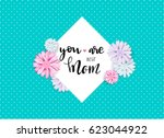 mother's day sweet flowers... | Shutterstock .eps vector #623044922
