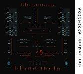 futuristic red virtual graphic...