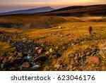 grasslands of kazakhstan ... | Shutterstock . vector #623046176