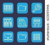 organize icon. set of 9 outline ...   Shutterstock .eps vector #623055446