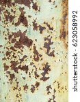 corroded white metal background.... | Shutterstock . vector #623058992