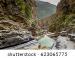 PARADISE VALLEY, AGADIR, MOROCCO. Upper end of the gorge in spring time