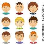 set of children's boy avatars.... | Shutterstock .eps vector #623073842
