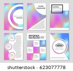 abstract vector layout... | Shutterstock .eps vector #623077778