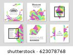 abstract vector layout... | Shutterstock .eps vector #623078768