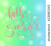 vector design with lettering ... | Shutterstock .eps vector #623081342