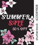 set of summer sale background... | Shutterstock .eps vector #623089808