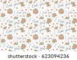love wrapping design  romantic...   Shutterstock . vector #623094236