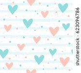 heart seamless background.... | Shutterstock . vector #623096786