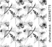 seamless pattern with wild... | Shutterstock . vector #623098775