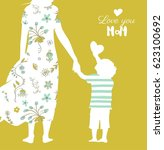 happy mother s day flyer ... | Shutterstock .eps vector #623100692