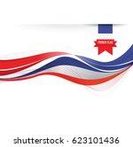france flag background | Shutterstock .eps vector #623101436