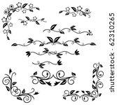 decorative elements set | Shutterstock .eps vector #62310265