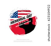 memorial day. remember and...   Shutterstock .eps vector #623104922