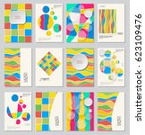 abstract design templates set.... | Shutterstock .eps vector #623109476