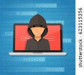 hacker activity and attack... | Shutterstock .eps vector #623115356