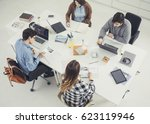 college students studying... | Shutterstock . vector #623119946