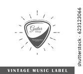 music label isolated on white... | Shutterstock .eps vector #623123066