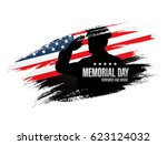 memorial day. remember and... | Shutterstock .eps vector #623124032
