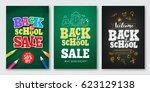 back to school sale vector set... | Shutterstock .eps vector #623129138