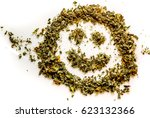 how to be happy with cannabis.... | Shutterstock . vector #623132366