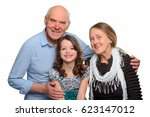 Happy Grandparents With Their...