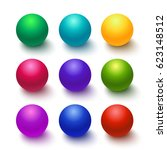 set of colorful glossy spheres