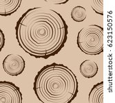 tree rings seamless. a simple... | Shutterstock .eps vector #623150576