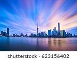 china shanghai skyline sunrise | Shutterstock . vector #623156402