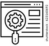 usability control vector icon | Shutterstock .eps vector #623160692