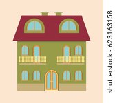 flat house icon. vector. | Shutterstock .eps vector #623163158