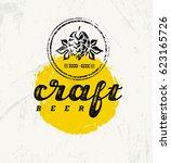 local craft beer creative...   Shutterstock .eps vector #623165726