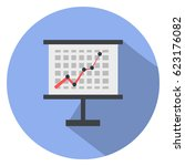 financial board  graph ... | Shutterstock .eps vector #623176082
