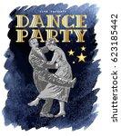 retro dance party poster... | Shutterstock .eps vector #623185442