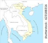 vietnam map | Shutterstock .eps vector #623188316