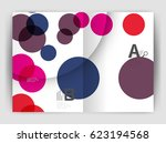 abstract circles  annual report ... | Shutterstock .eps vector #623194568