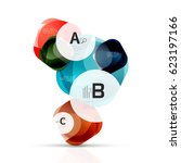 shiny abstract elements. vector ... | Shutterstock .eps vector #623197166