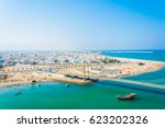 Aerial View Of The Omani Town...