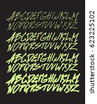 graphic font for your design.... | Shutterstock .eps vector #623225102