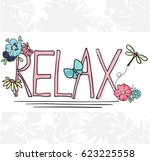 slogan print graphic. for t... | Shutterstock .eps vector #623225558