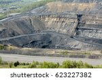 extraction coal open pit ... | Shutterstock . vector #623227382