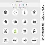 agriculture vector icons for... | Shutterstock .eps vector #623227652